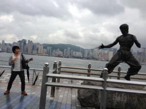 香港でブルース・リー