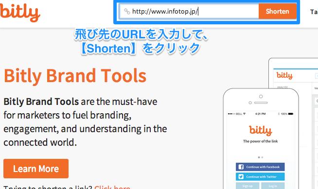 bit.lyにて短縮URL
